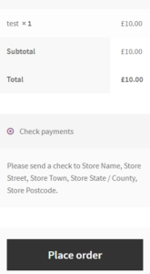 How to change the place order button text on checkout page