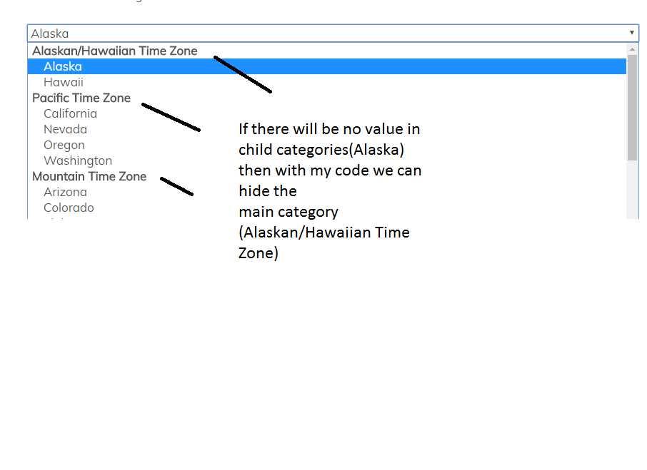 Hiding Select2 Optgroup with no child options - therichpost