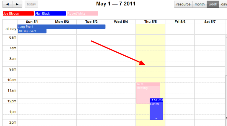 How to change day background-color in fullcalendar for