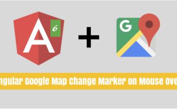 Angular Google Map Marker Change Marker on Mouse Over