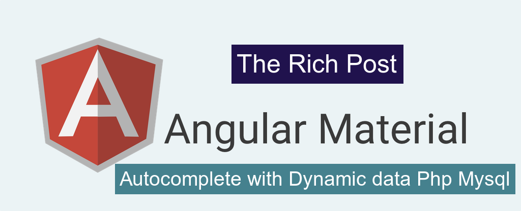 Angular Material Autocomplete