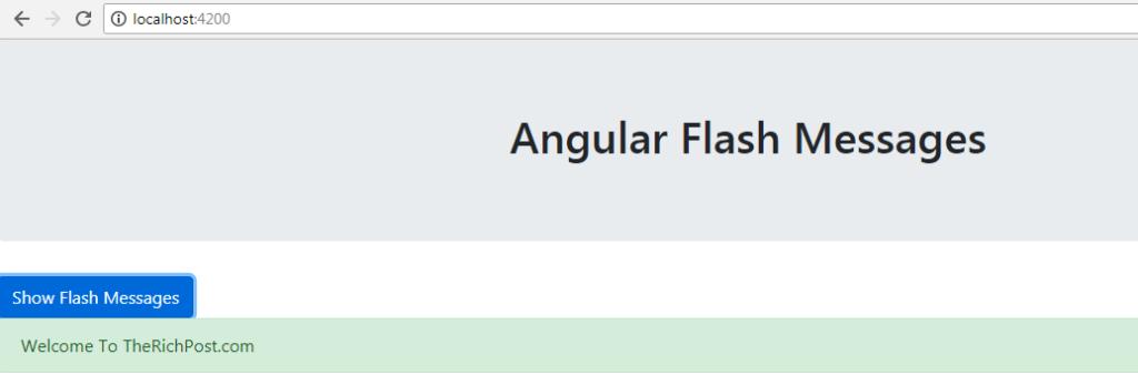 Angular 6 Flash Messages
