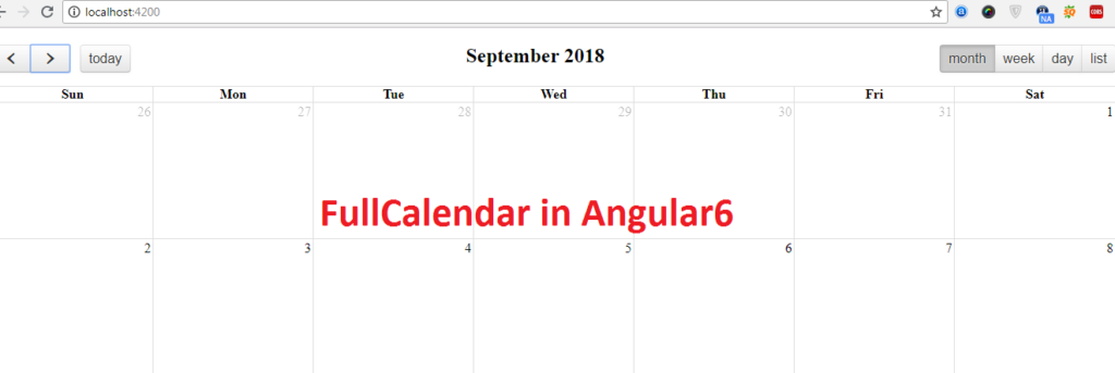 fullcalendar-in-angular6