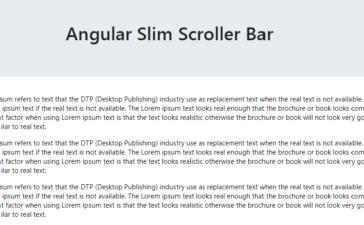 How to implement Slimscroll in Angular 7?