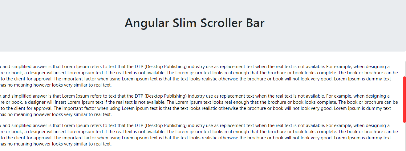 Angular Slimscroll Bar - therichpost