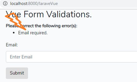 vue from validation