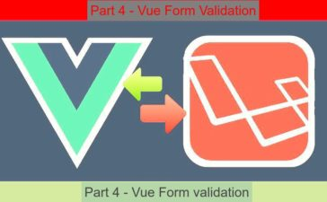 vuelaravel part4 form validation