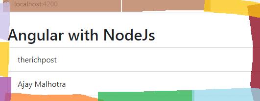 Angular with Node