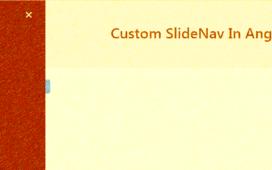 Custom Sidenav in Angular