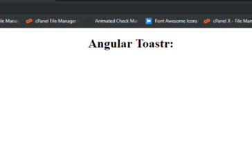 Angular 8 Toastr Notifications Working Example