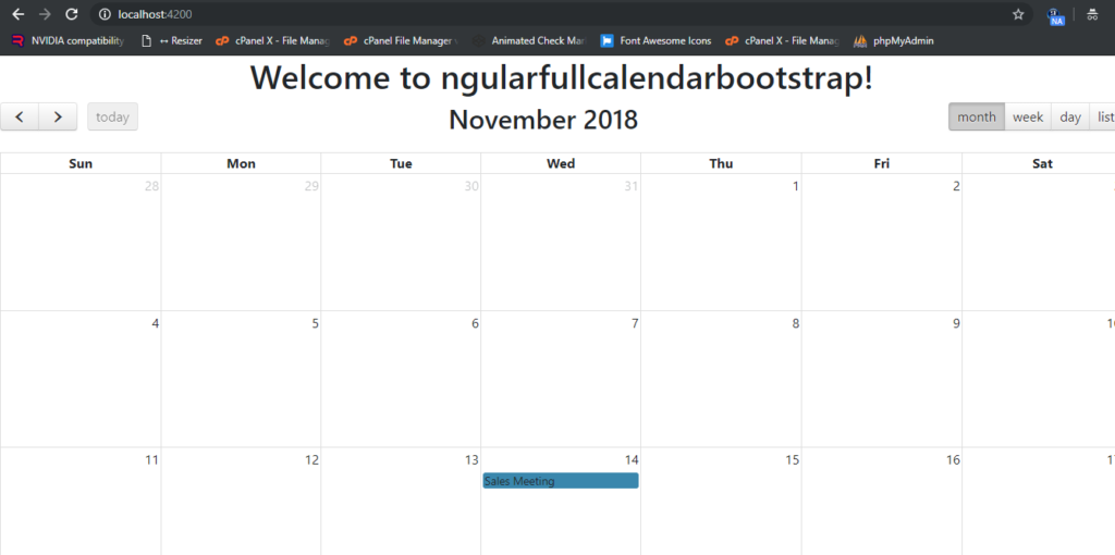 Open Bootstrap Modal Popup on Event Click Fullcalendar in