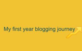 my first year blogging journey