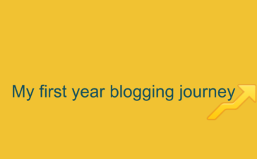 my first year blogging journey