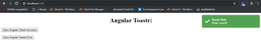 toastr notifications in angular 8