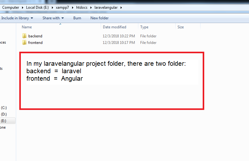 Laravel Angular Project Folder Structure Best Practices