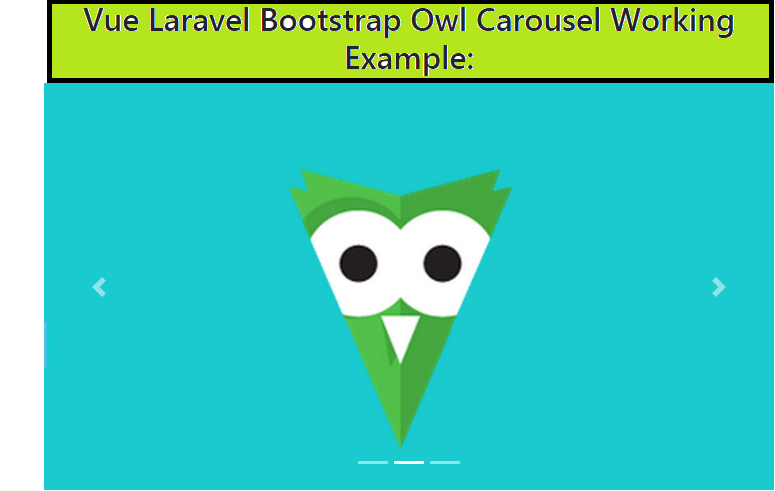 Vue Laravel Bootstrap Owl Carousel Working Example - therichpost