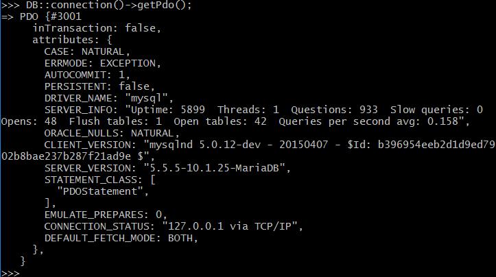 check_database_laravel_tinker