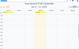 How to implement Fullcalendar in Vue Laravel with dynamic Events