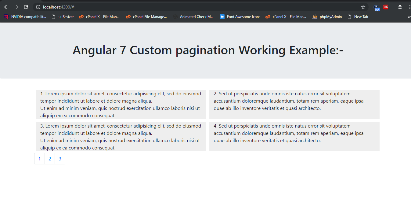 Angular 7 Pagination Working Example