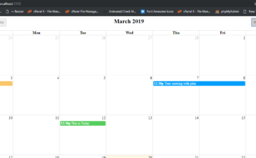 angular 9 - how to show dynamic event in fullcalendar