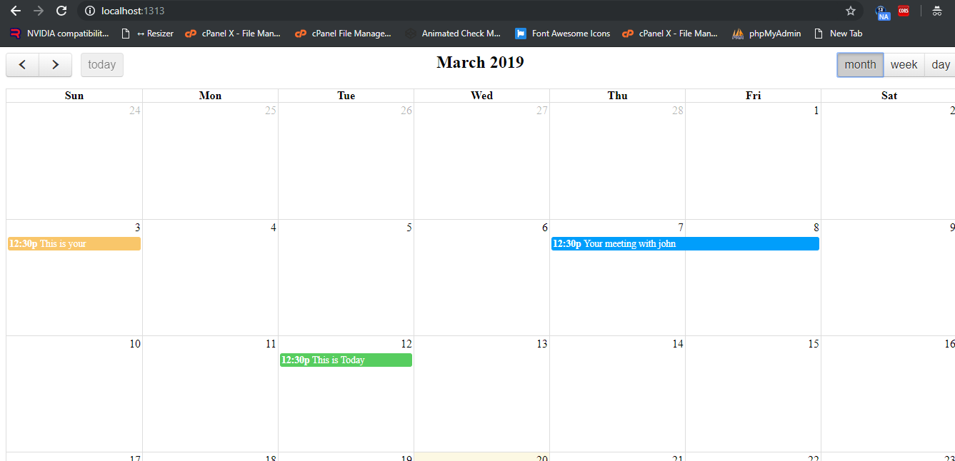 How to implement Full Calendar in Angular 9?