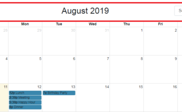 Fullcalendar with select year and month dropdown