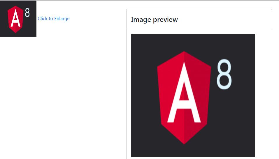 Angular 8 enlarge image in custom bootstrap modal