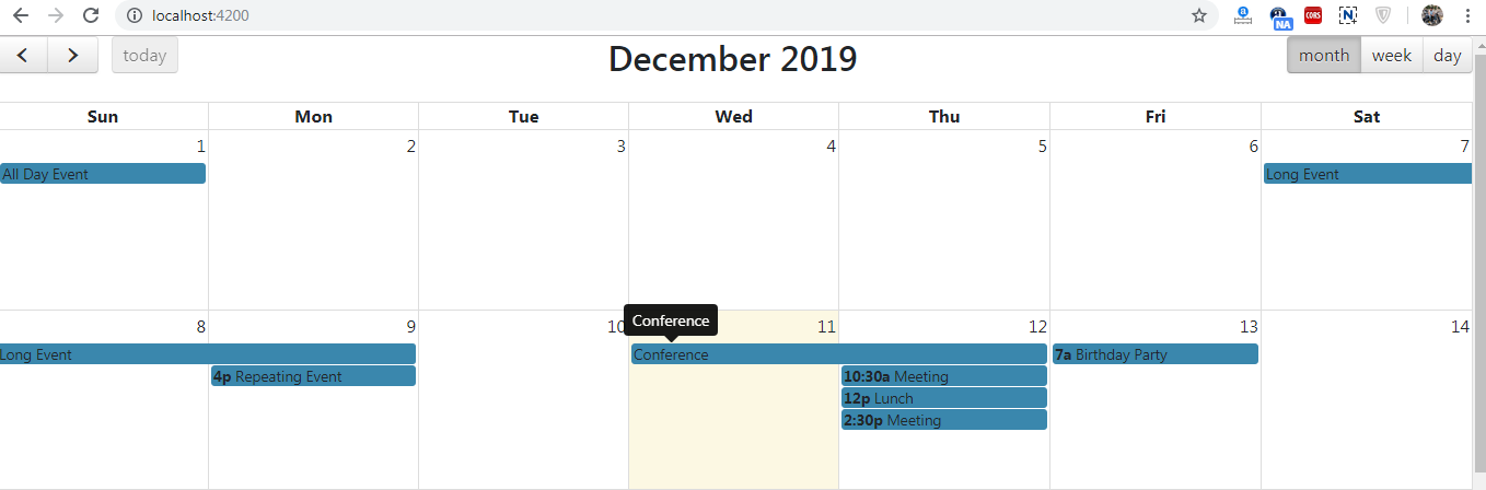 Angular 8 fullcalendar event tooltip