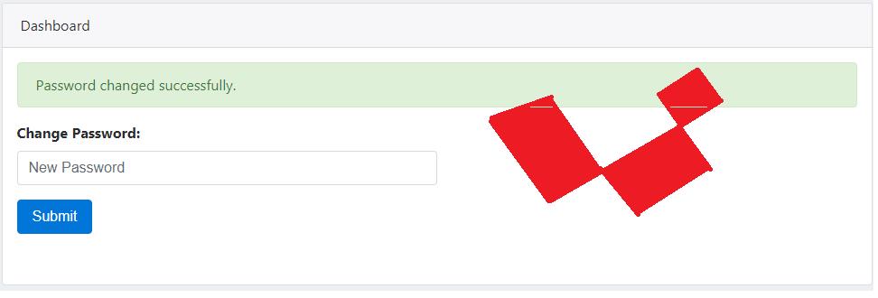 laravel change user password