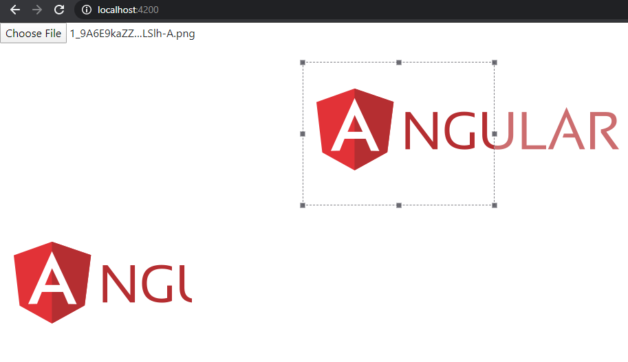 Angular 9 image cropper working example