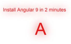 install angular 9