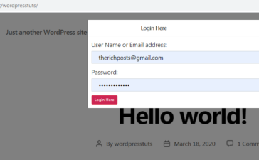 wordpress user login frontend