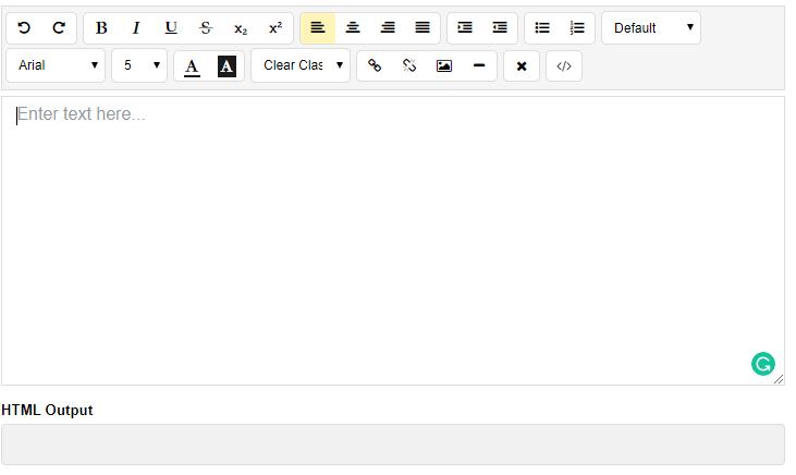 angular 9 text editor