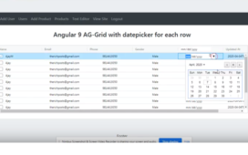 angular 9 ag-grid
