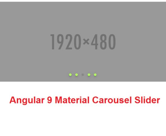 Angular 9 Material Carousel Slider