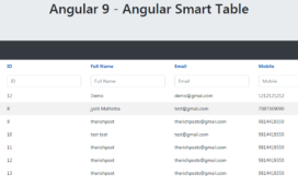 Angular Smart Table