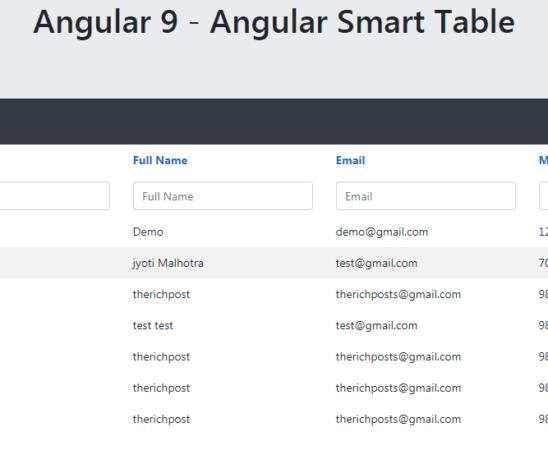 Angular Smart Table