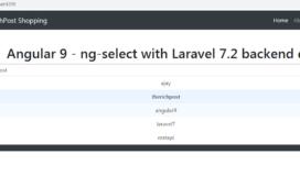 angular 9 ng select laravel data
