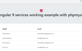 angular 9 services with php mysql data