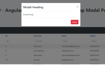 angular smart table open modal