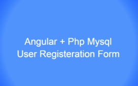 Angular 9 | PHP User Registration Form