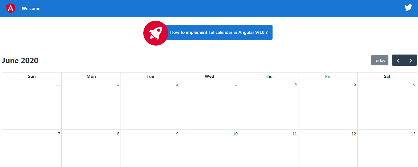 How to implement FullCalendar in Angular 9/10 ? - therichpost