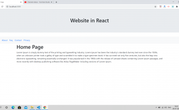 How to create 5 pages website in Reactjs?