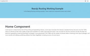 Reactjs Routing Working Tutorial