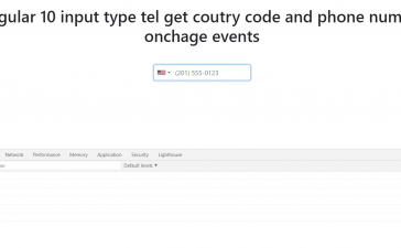 angular 10 input type tel get country details on change event