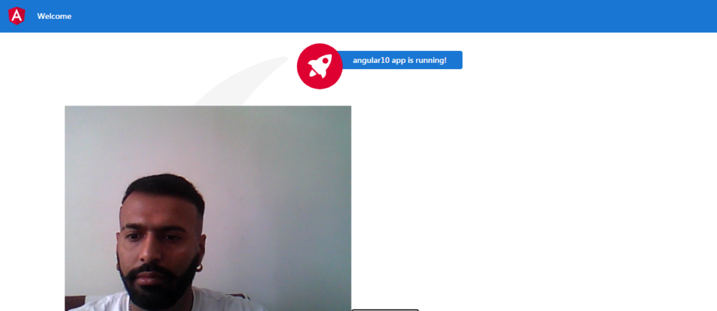 How to access webcam in angular 10 application?