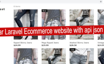 Angular laravel Ecommerce website