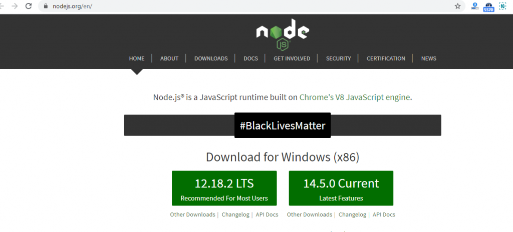 Install Nodejs latest version