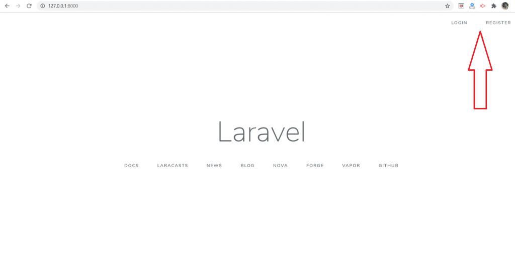 Laravel auth login register