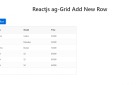 Reactjs aggrid add new row